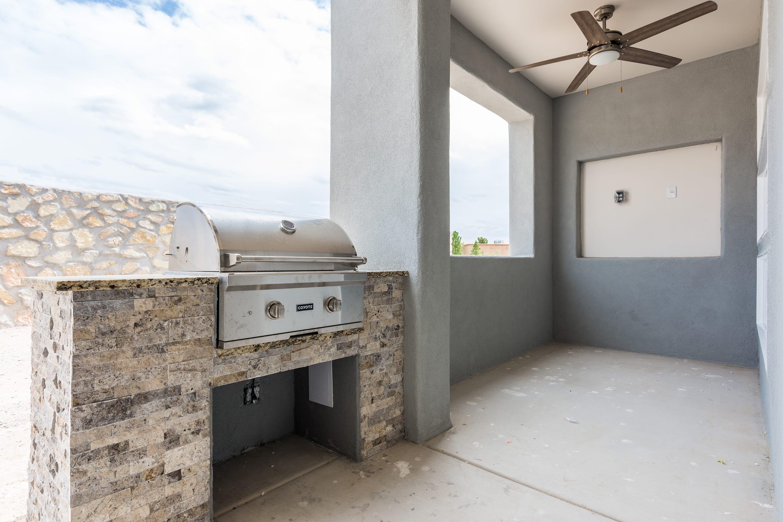Exterior shot of patio area of 2884 Maddox contemporary home