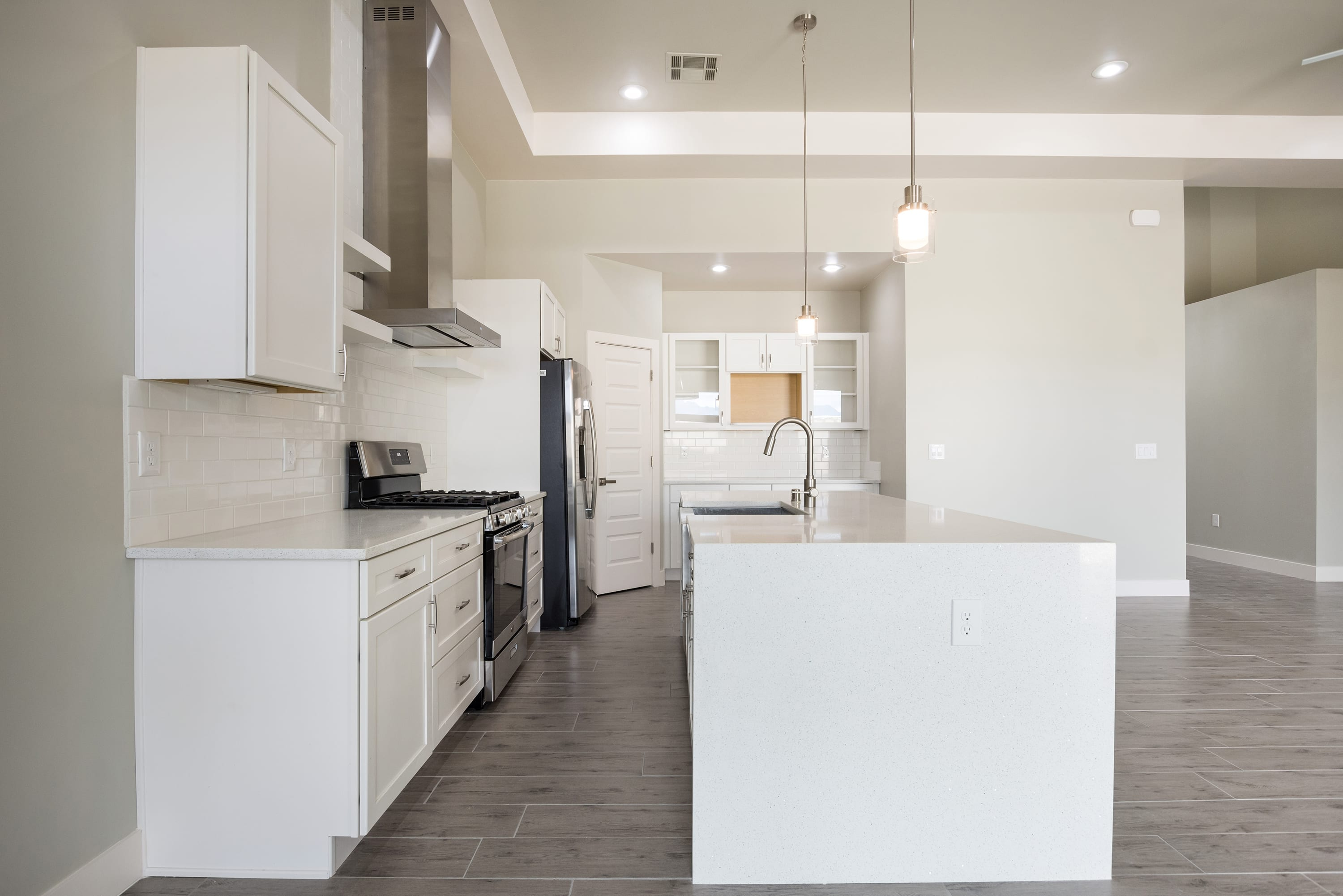 Interior Shot of kitchen in 2884 Maddox contemporary home