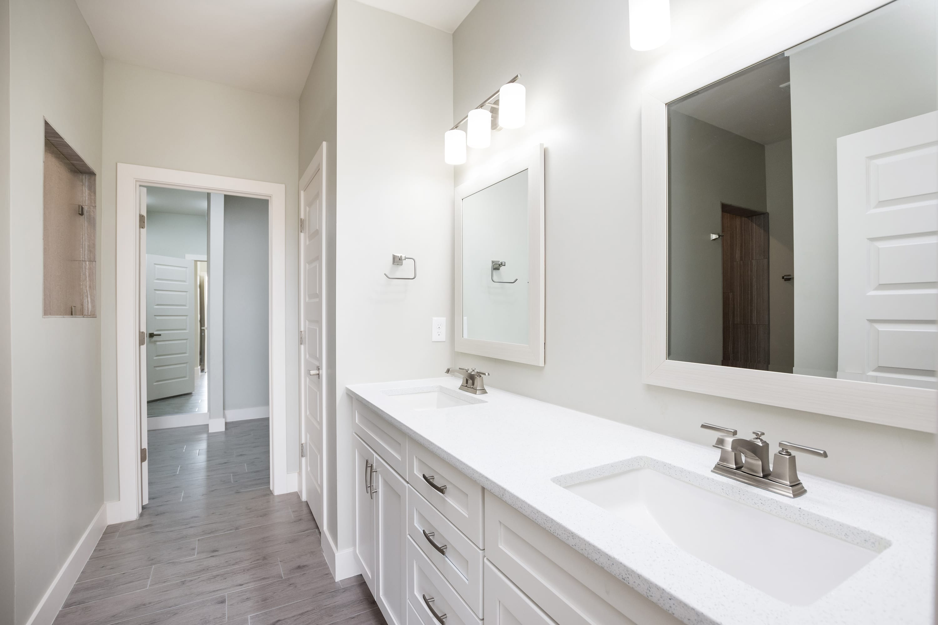 Interior shot of master bathroom in 2884 Maddox contemporary home