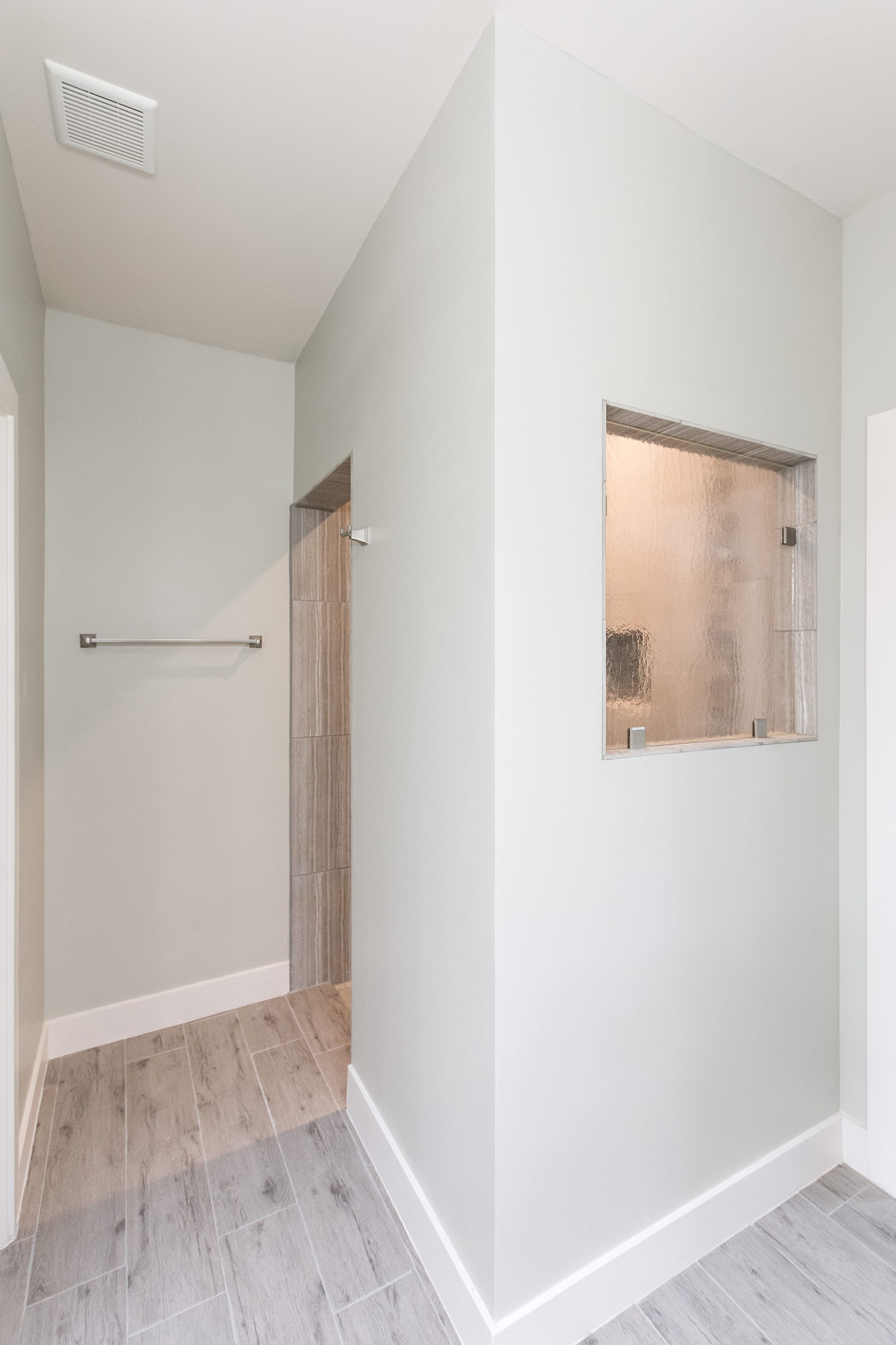 Interior shot of master bathroom shower in 2884 Maddox contemporary home
