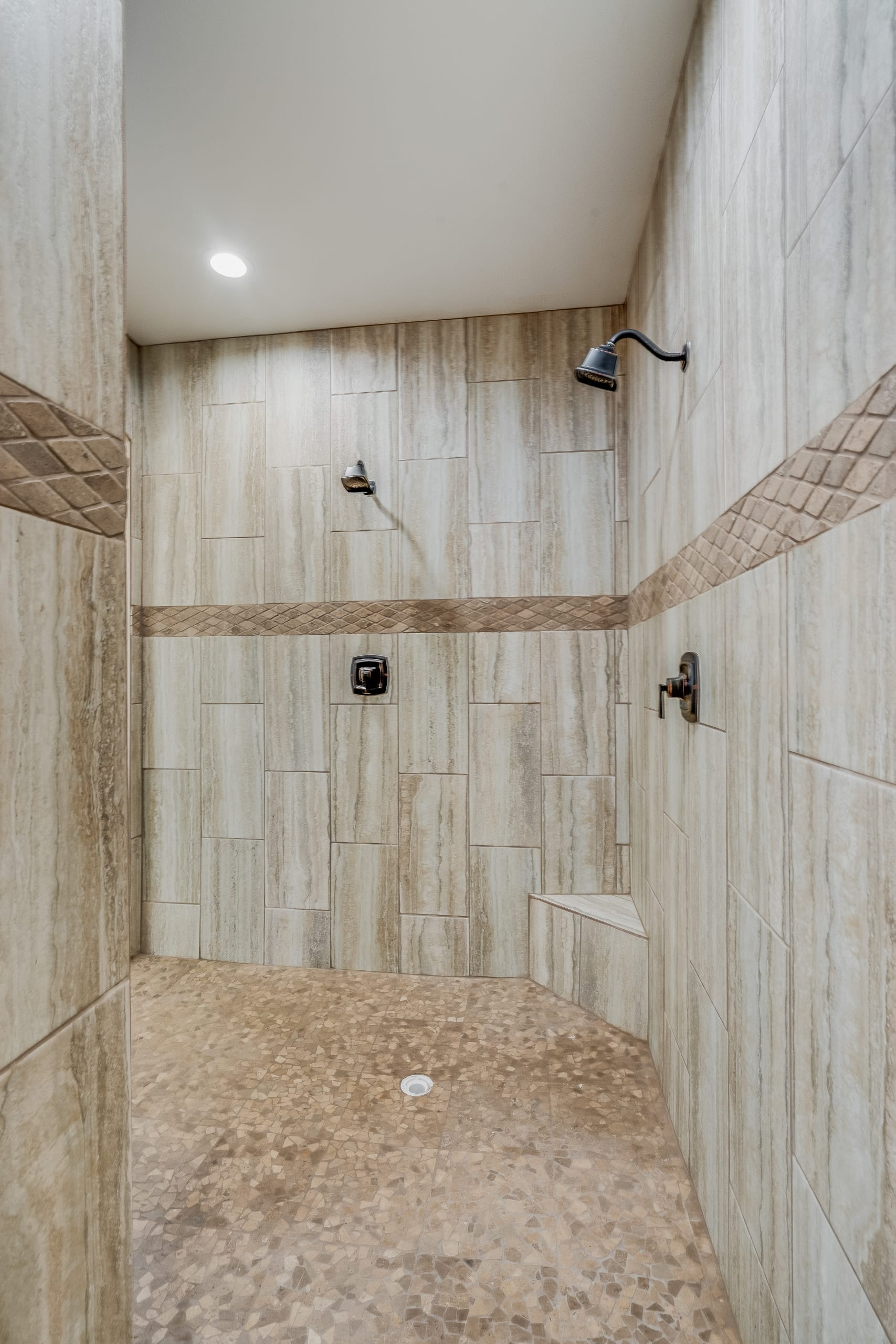 Interior shot of master bathroom shower in 3420 Calle Bedado