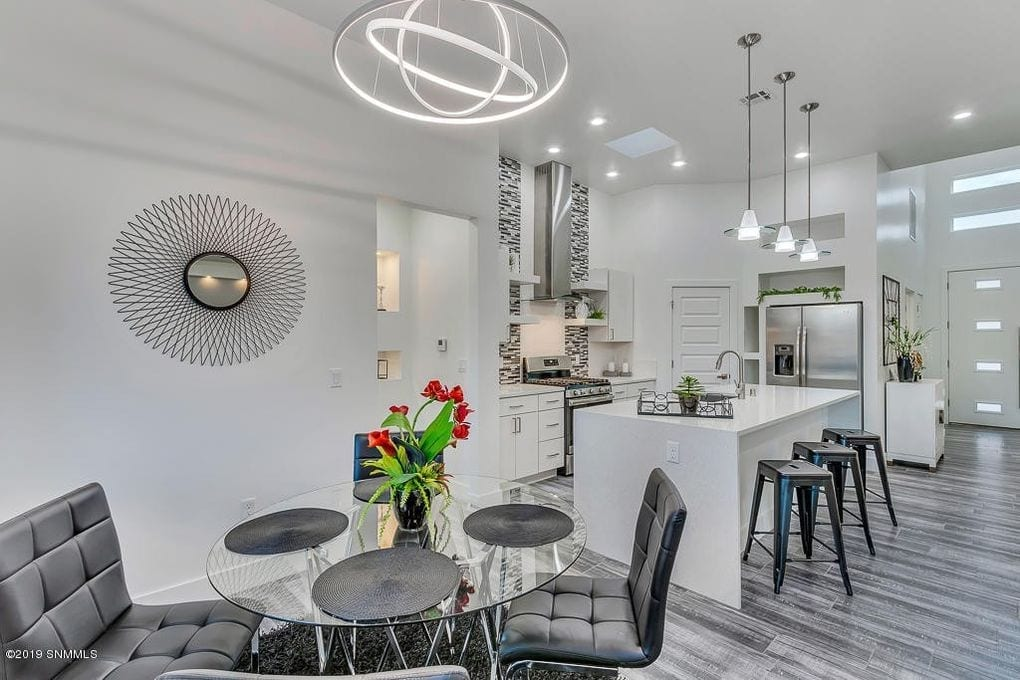 Interior shot of kitchen and dining area in 2190 Pacifico Court