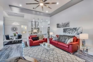 Custom Home Builder - Interior shot of living area in 2190 Pacifico Court