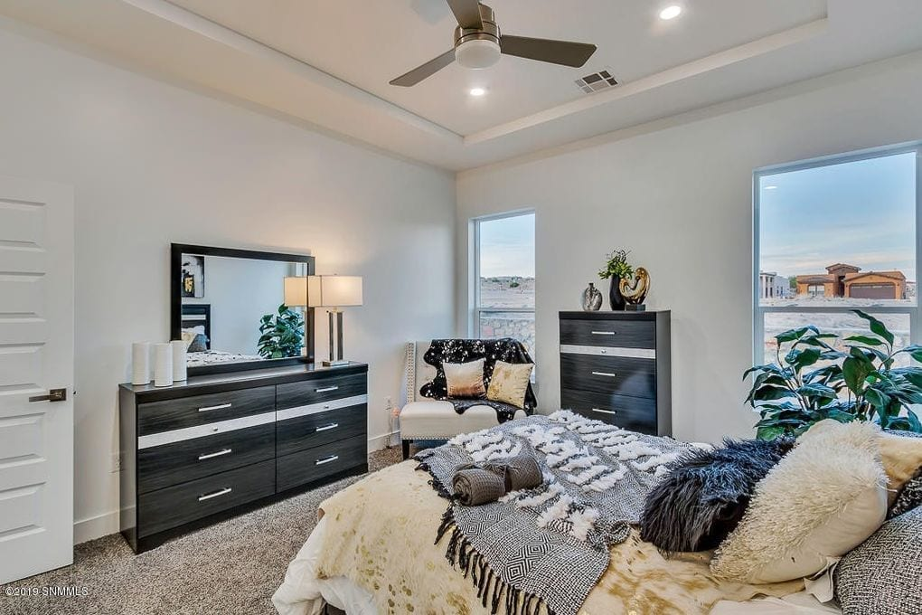Interior shot of master bedroom in 2190 Pacifico Court