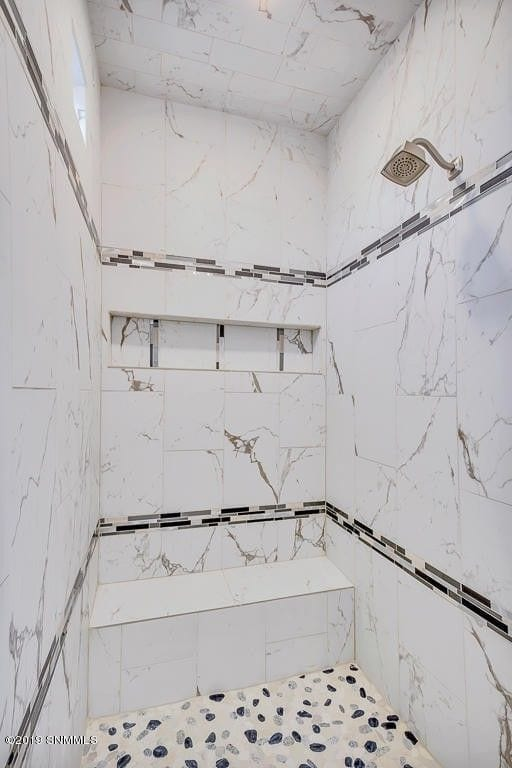 Interior shot of master bedroom shower in 2190 Pacifico Court