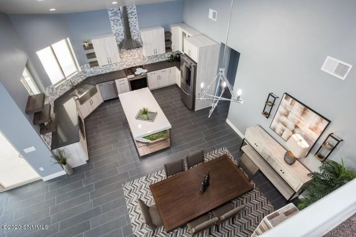 2964 Maddox Loop kitchen and dining aerial view