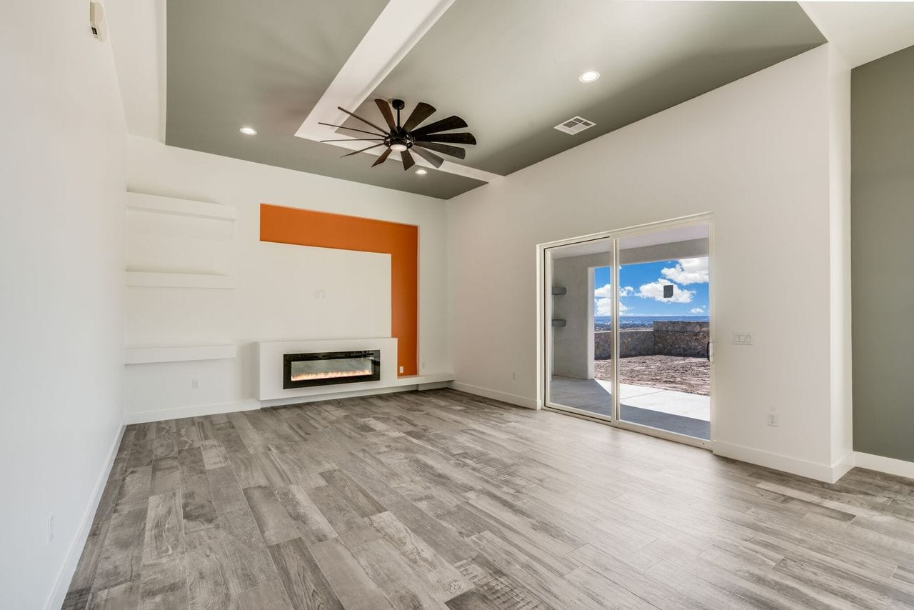 3071 Cheyenne living area with fireplace