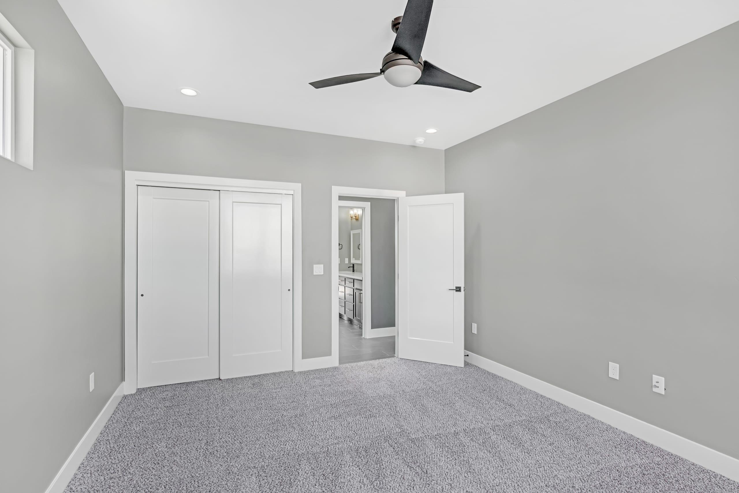 Bedroom - Facing door - ceiling fan