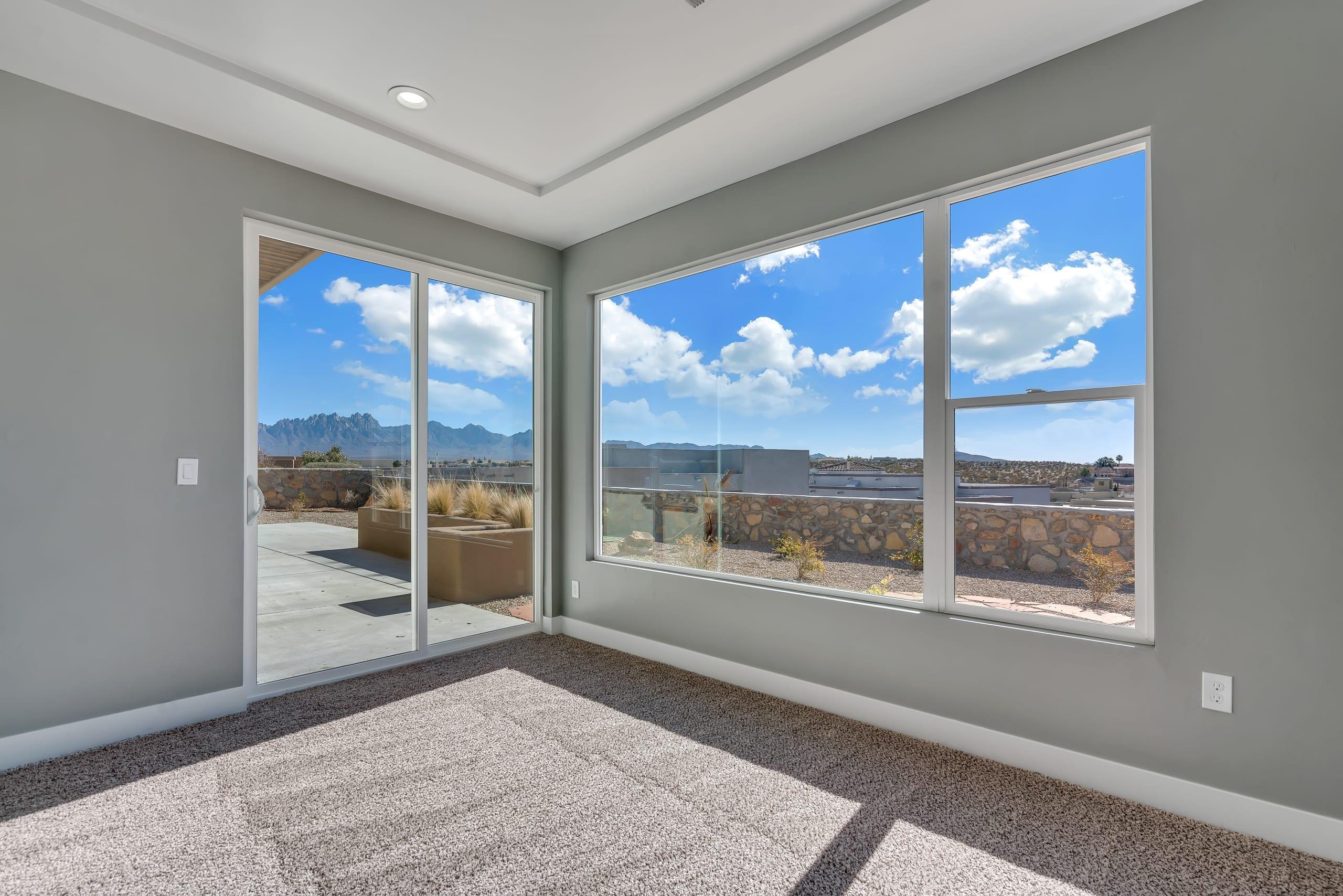 Master Bedroom - Large Windows - Sliding Door to Outside