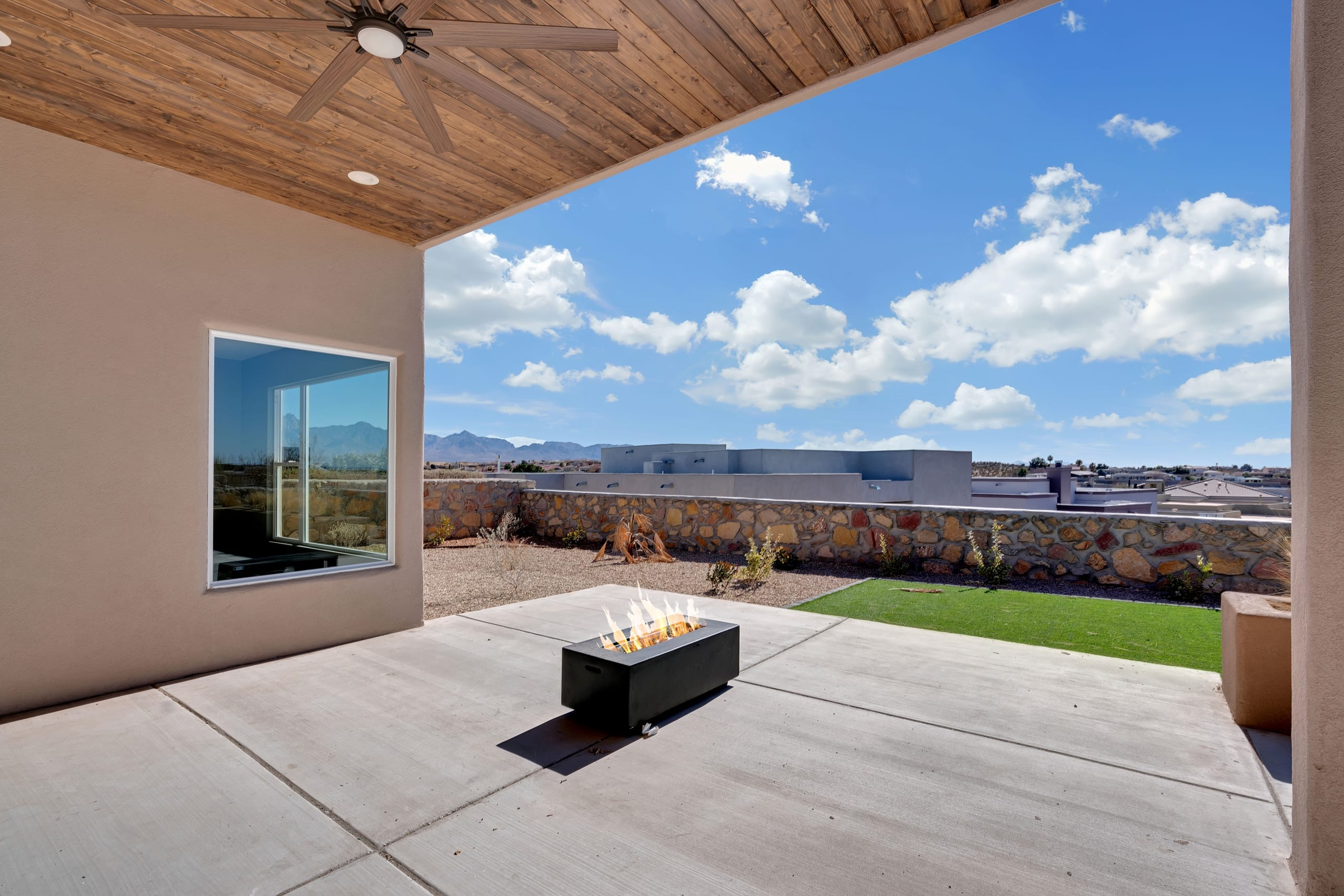 2914 East Spring - View from Patio - Gas Fireplace